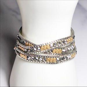 Stella & Dot Jewelry Mixed Metal Wrap Bracelet